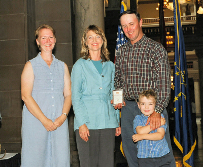 On May 7, 2004 Albert & Diane Armand were honored by Indiana Lt. Gov. Kathy Davis as one of 31 men  and women from across the state to receive a 2004 Lieutenant Governor's Hoosier Hospitality Award!