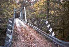 Old road through a bridge