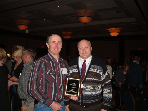 Winner of the 2007 Conservation Farmer of the Year Award by Indiana Farm Bureau!
